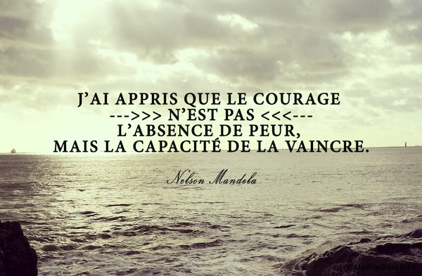 Citation Nelson Mandela Peur