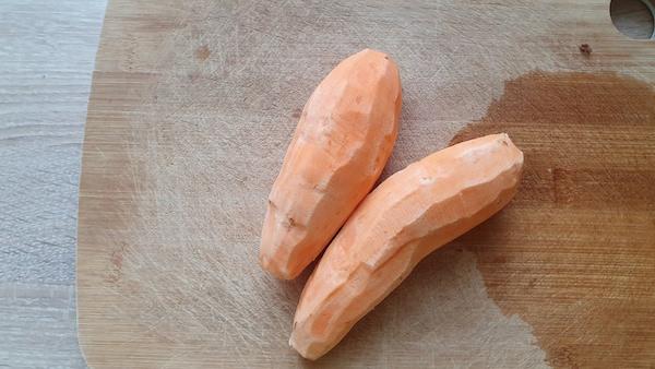 patate douce préparation