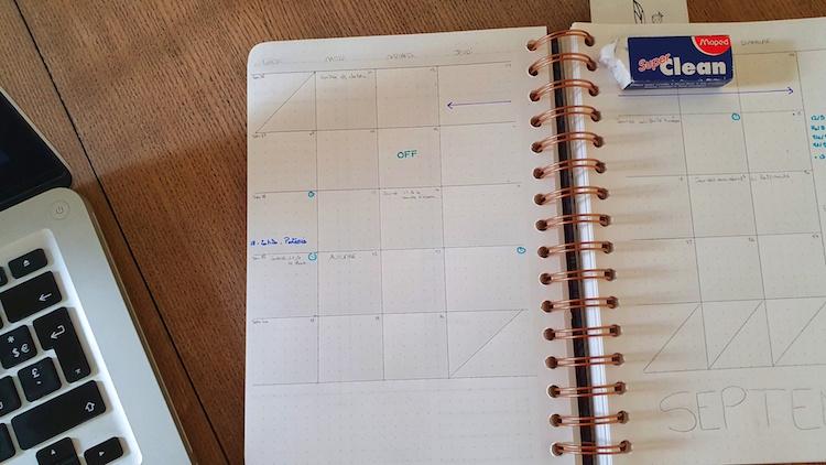 outil organisation agenda mois